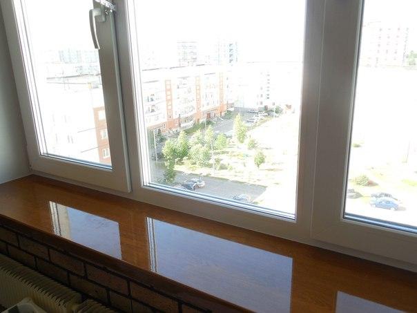 Глянцевые подоконники на пластиковые окна